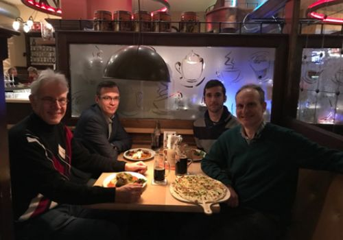 Dinner in Dresden with our collaborators Dr. Vladimir Fomin and Dr. Roman Rozaev in January 2019