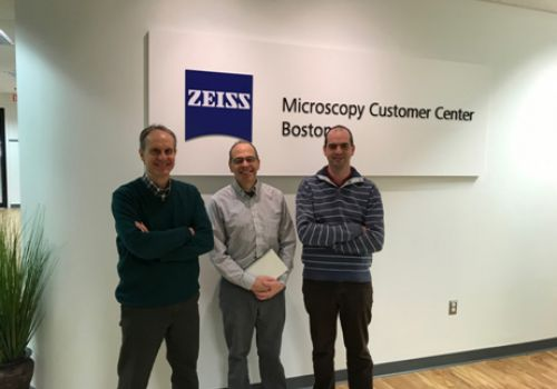 Visit to the factory of the Helium Ion Microscope of Zeiss in Peabody (U.S.A.) in March 2019 with my PhD student Javier Pablo-Navarro and hosted by Dr. John Notte
