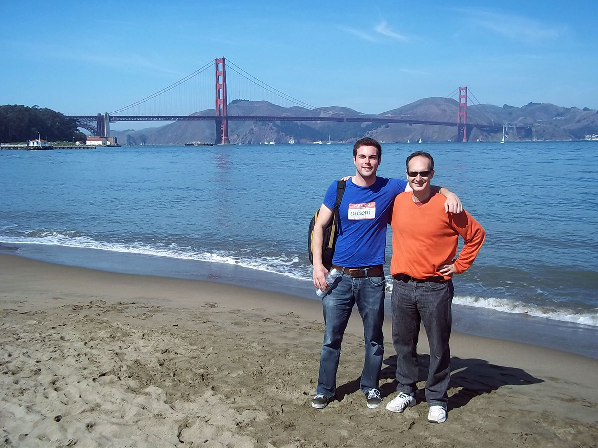 Visiting Luis Serrano at San Francisco