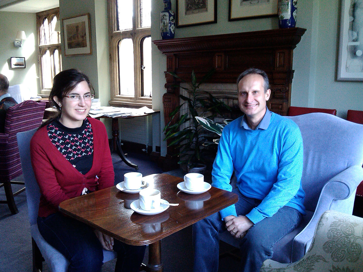 Visiting Ines Serrano at Cambridge University